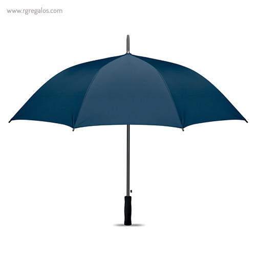 Paraguas automático interior plata azul 1 - RG regalos publicitarios