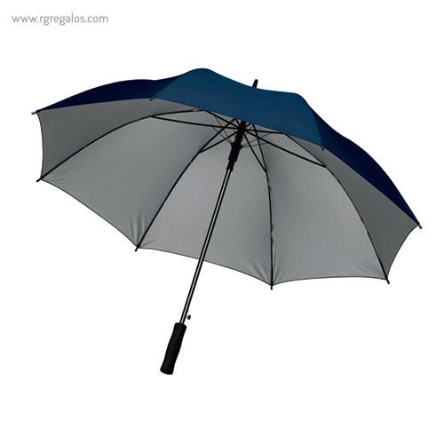 Paraguas automático interior plata azul - RG regalos publicitarios