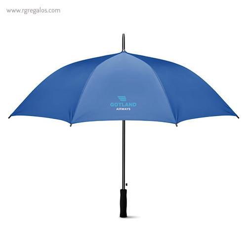 Paraguas automático interior plata azul claro 1- RG regalos publicitarios