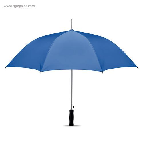 Paraguas automático interior plata azul claro 1 - RG regalos publicitarios