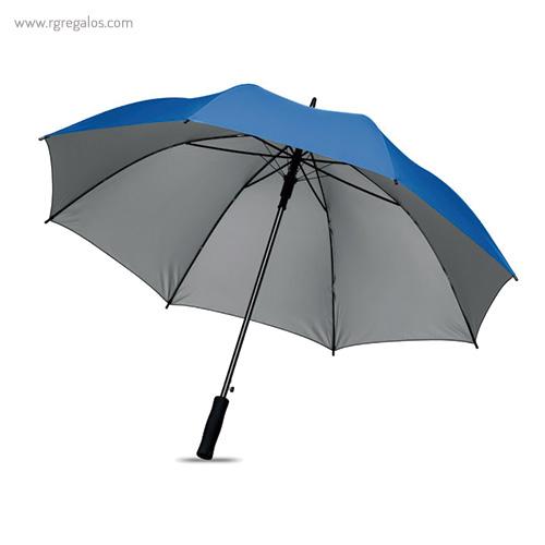 Paraguas automático interior plata azul claro - RG regalos publicitarios