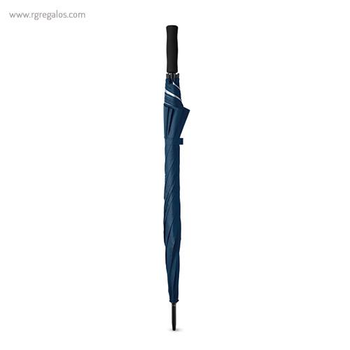 Paraguas automático interior plata azul plegado - RG regalos publicitarios