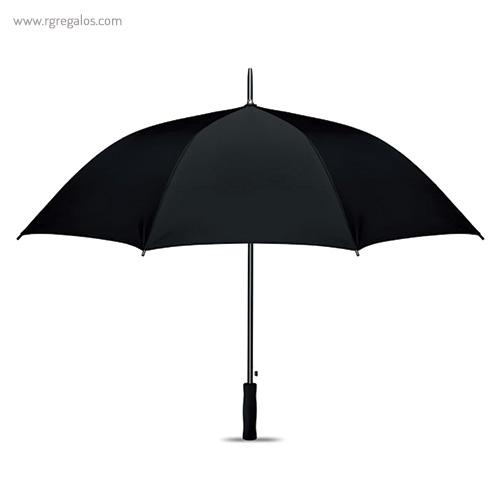 Paraguas automático interior plata negro 1 - RG regalos publicitarios