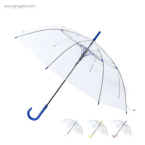 Paraguas automático transparente - RG regalos publicitarios