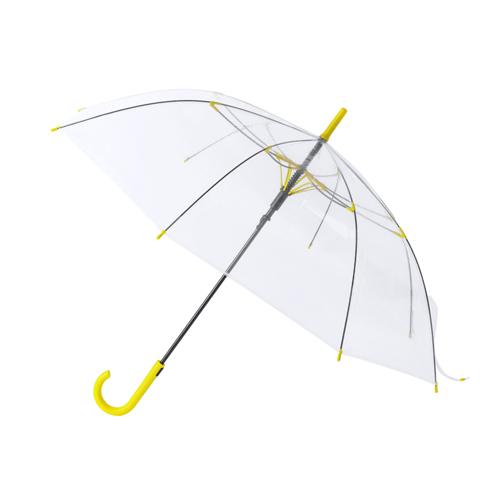 Paraguas automático transparente amarillo - RG regalos publicitarios