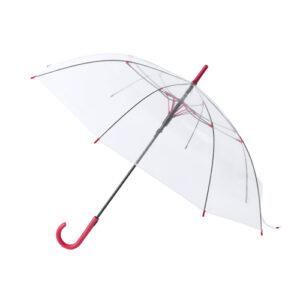 Paraguas automático transparente rojo - RG regalos publicitarios