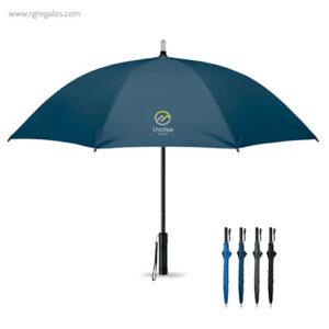 Paraguas manual con luz azul marino - RG regalos publicitarios