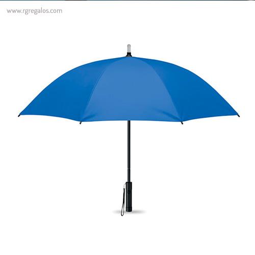 Paraguas manual con luz azul - RG regalos publicitarios