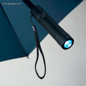 Paraguas manual con luz azul marino linterna - RG regalos publicitarios