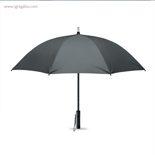 Paraguas manual con luz gris - RG regalos publicitarios