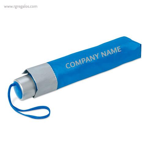 Paraguas plegable mini 21 azul logo - RG regalos publicitarios