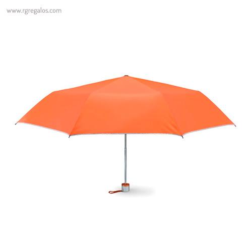 Paraguas plegable mini 21 naranja - RG regalos publicitarios