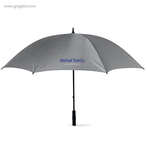 Paraguas publicitario grande 30 gris - RG regalos publicitarios