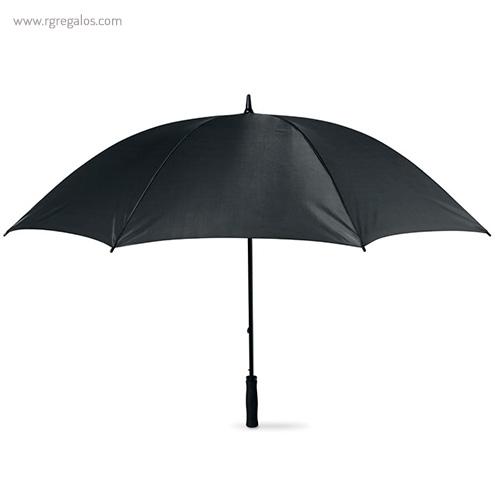 Paraguas publicitario grande 30 negro - RG regalos publicitarios