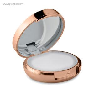Bálsamo labial con espejo rosado - RG regalos publicitarios
