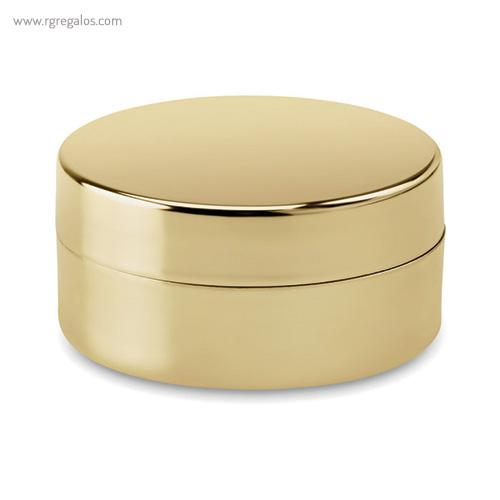 Bálsamo labial en caja oro redonda - RG regalos publicitarios