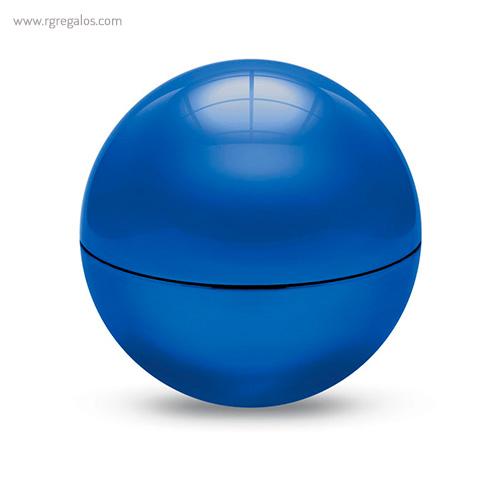 Bálsamo labial redondo metálico azul cerrado - RG regalos publicitarios