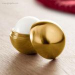 Bálsamo labial redondo metálico oro 1 - RG regalos publicitarios