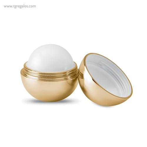Bálsamo labial redondo metálico oro - RG regalos publicitarios