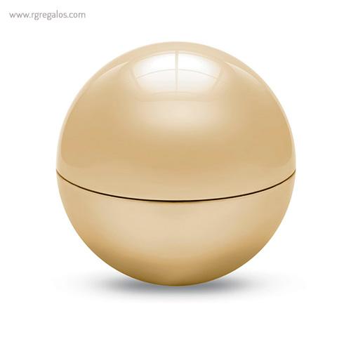 Bálsamo labial redondo metálico oro cerrado- RG regalos publicitarios