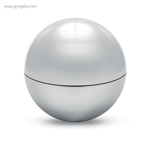Bálsamo labial redondo metálico plata cerrado - RG regalos publicitarios