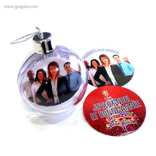 Bola de navidad personalizable 5 - RG regalos publicitarios