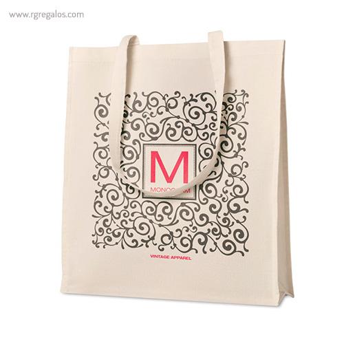 Bolsa 100% algodón con fuelle logo - RG regalos publicitarios