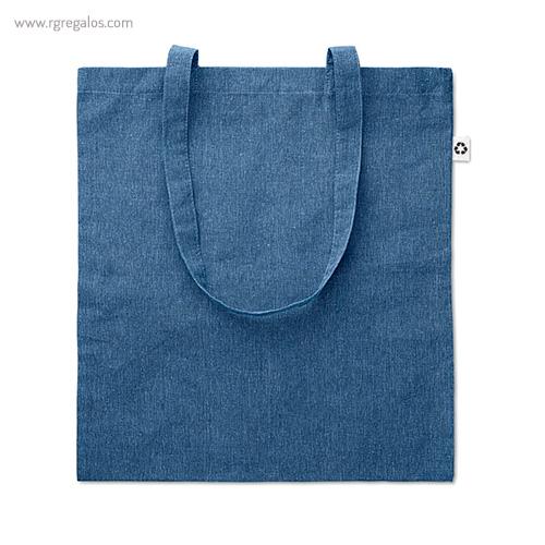 Bolsa de algodón reciclado azul - RG regalos publicitarios