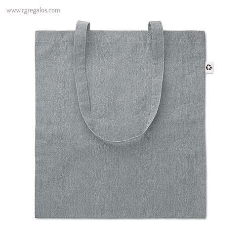 Bolsa de algodón reciclado gris - RG regalos publicitarios