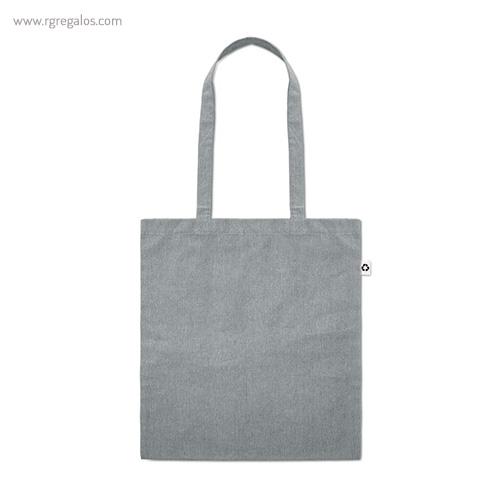 Bolsa de algodón reciclado gris asas largas- RG regalos publicitarios