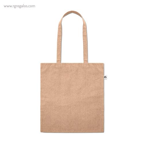 Bolsa de algodón reciclado natrual asas largas- RG regalos publicitarios