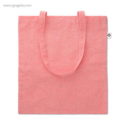 Bolsa de algodón reciclado rosa - RG regalos publicitarios