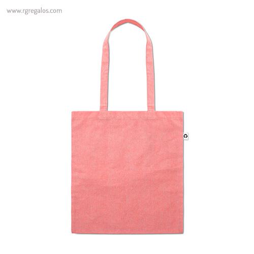 Bolsa de algodón reciclado rosa asas largas- RG regalos publicitarios