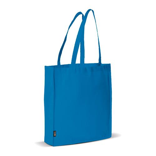 Bolsa non woven asas largas azul perfil - RG regalos publicitarios