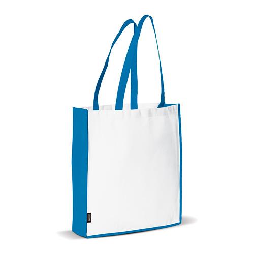 Bolsa non woven asas largas bicolor azul - RG regalos publicitarios