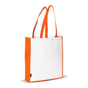 Bolsa non woven asas largas bicolor naranja - RG regalos publicitarios