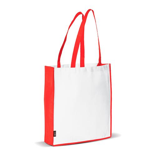 Bolsa non woven asas largas bicolor roja - RG regalos publicitarios