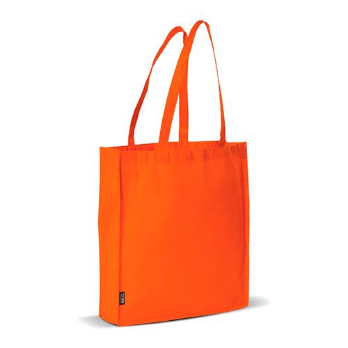 Bolsa non woven asas largas naranja perfil - RG regalos publicitarios