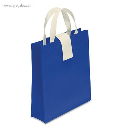 Bolsa plegable non woven azul - RG regalos publicitarios