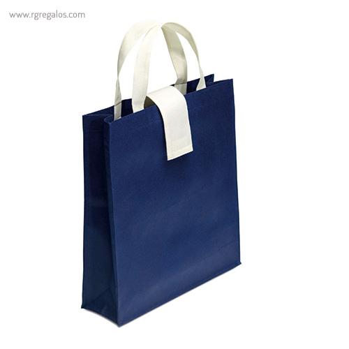 Bolsa plegable non woven azul marino - RG regalos publicitarios