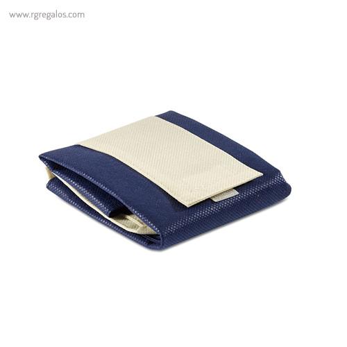 Bolsa plegable non woven azul marino plegada - RG regalos publicitarios