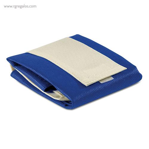 Bolsa plegable non woven azul plegada - RG regalos publicitarios