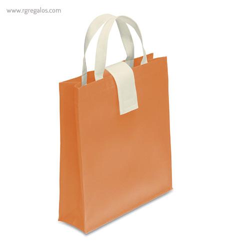 Bolsa plegable non woven naranja - RG regalos publicitarios