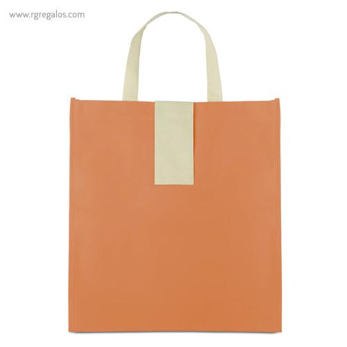 Bolsa plegable non woven naranja frontal - RG regalos publicitarios