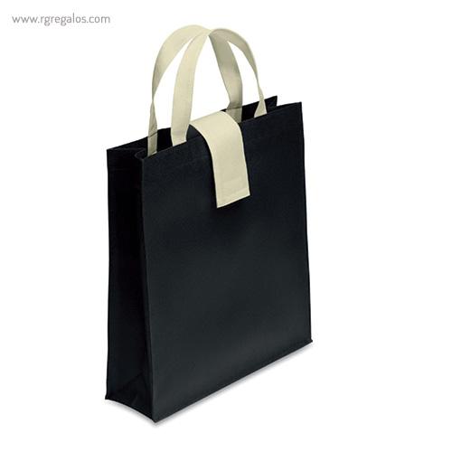 Bolsa plegable non woven negra - RG regalos publicitarios