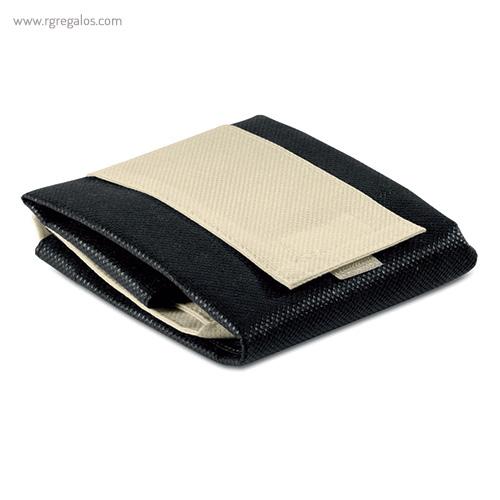 Bolsa plegable non woven negra plegada - RG regalos publicitarios