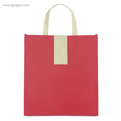Bolsa plegable non woven roja frontal - RG regalos publicitarios