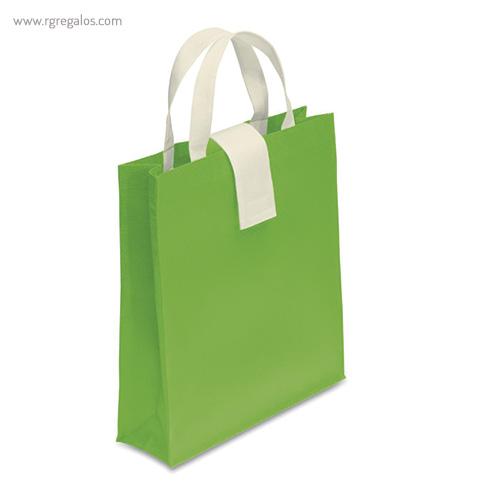 Bolsa plegable non woven verde - RG regalos publicitarios