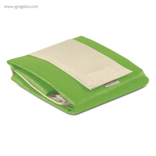 Bolsa plegable non woven verde plegada - RG regalos publicitarios