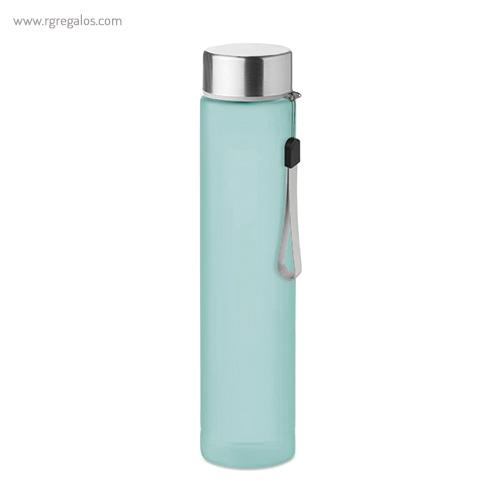 Botella de tritán 300 ml slim turquesa - RG regalos publicitarios